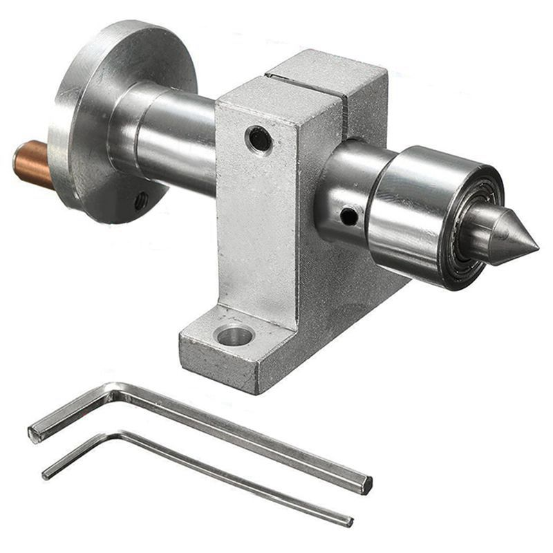 New Adjustable Double Bearing Live Revolving Centre DIY For Mini Lathe Machine Woodworking Tool