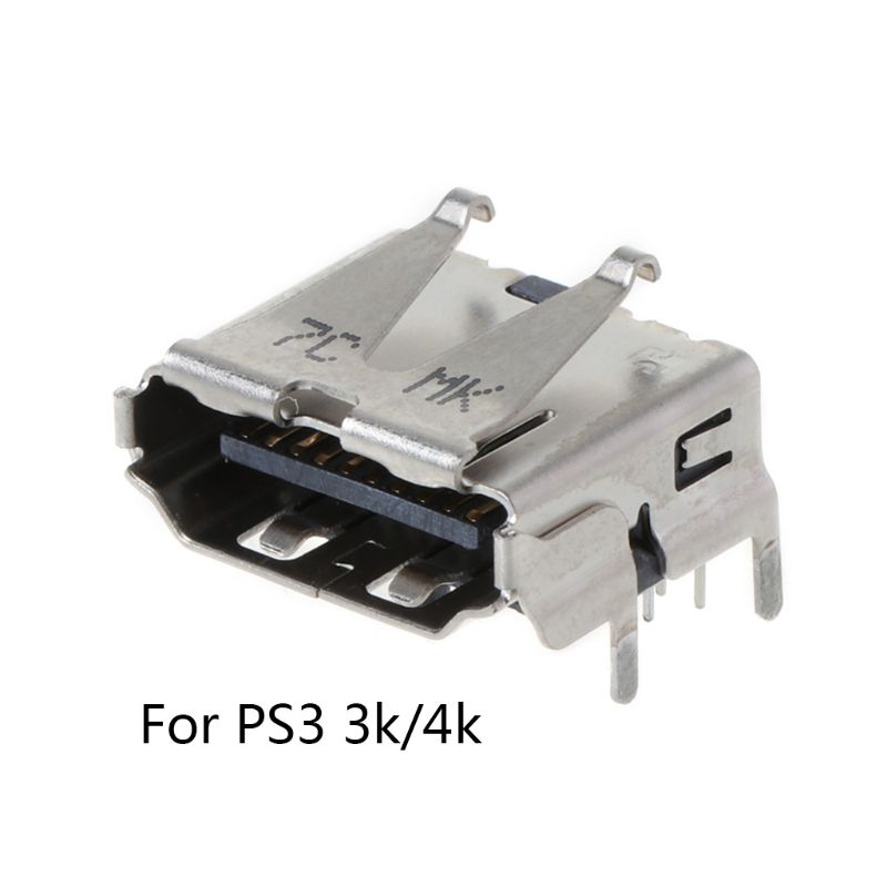 1 Pc For Playstation 3 PS3 HD <font><b>PS</b></font> 3 Super Slim 3000 4000 3K 4K <font><b>HDMI</b></font> Port Jack Socket Interface Connector Replacement image
