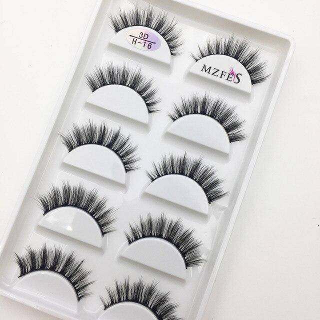 Wholesale 10/50 Boxes 3D Mink Eyelashes Natural Thick False Eye Lashes Mink Lashes Soft Fake Eyelash Wispy Makeup Cilios H13 5