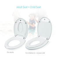 Round Adult Toilet Seat With Child Potty Training Cover PP Material Double Seats Safe Convenient For Adult Children