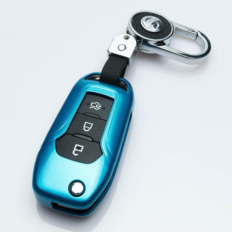 Otomobiller ve Motosikletler'ten Araba için Anahtar Kılıfı'de 2019 sıcak satış yeni ABS boyalı araba anahtarı koruyucu kabuk Ford Explorer Ranger Mondeo Ecosport araba kat anahtar kapak Fob ceket kılıfı title=