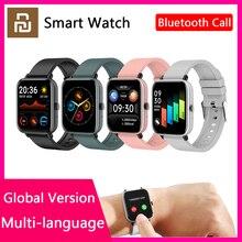 Youpin النسخة العالمية الذكية ووتش الاسوره الرجال النساء الرياضة بلوتوث مكالمة القلب معدل النوم مراقبة Smartwatch ل أبل Xiaomi