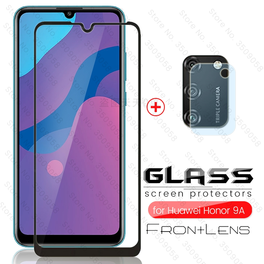 2-in-1 Camera Glass For Honor 9a Glass Screen Protector For Huawei Honor 9a Moa-lx9n Xonor 9 A A9 Honor 9a 2020 6.3'' Phone Film