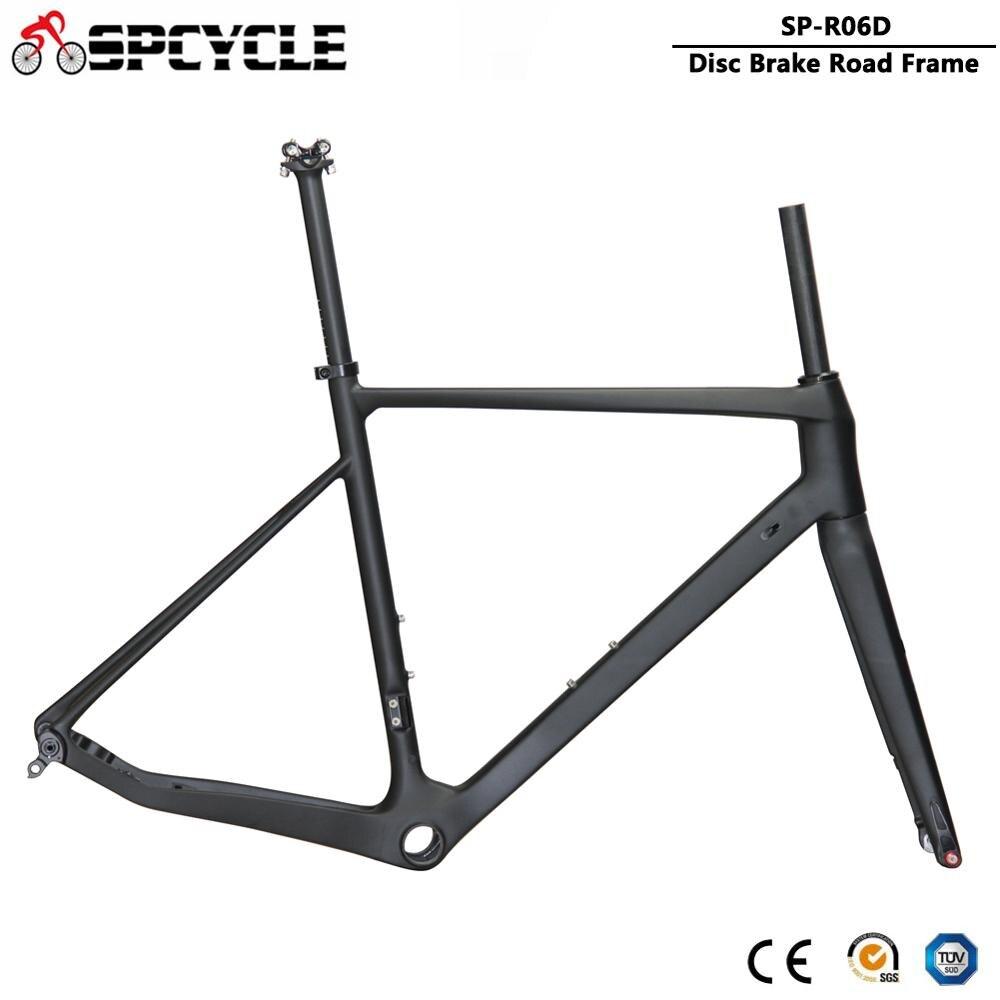 Spcycle Ultralight T1000 Carbon Road Bike Frame 2020 New Disc Brake Road Bicycle Carbon Frameset 142*12mm 100*12mm Thru Axle