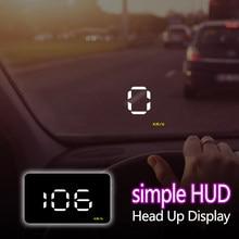Quente a1000 carro hud obd ii cabeça up display sistema de aviso excesso de velocidade projetor brisa automático eletrônico tensão alarme do carro estilo