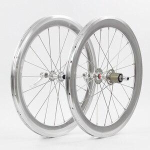 "Image 5 - SILVEROCK Alloy Wheelset 20"" 406 451Rim Caliper Brake High Profile 74 100 130 11s for Tricycle Folding Bike Minivelo Wheels"