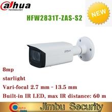 Dahua ip 카메라 POE 8MP 별빛 IPC HFW2831T ZAS S2 H.265 IR60 Vari foca 렌즈 IP67 WDR Bullet onvif