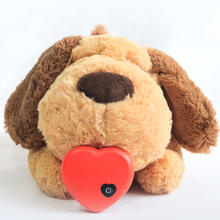 Toy Dog-Toy Plush-Doll Cats Comfortable Sleep Aid Smart-Dogs Play Heart-Beat Behavioral