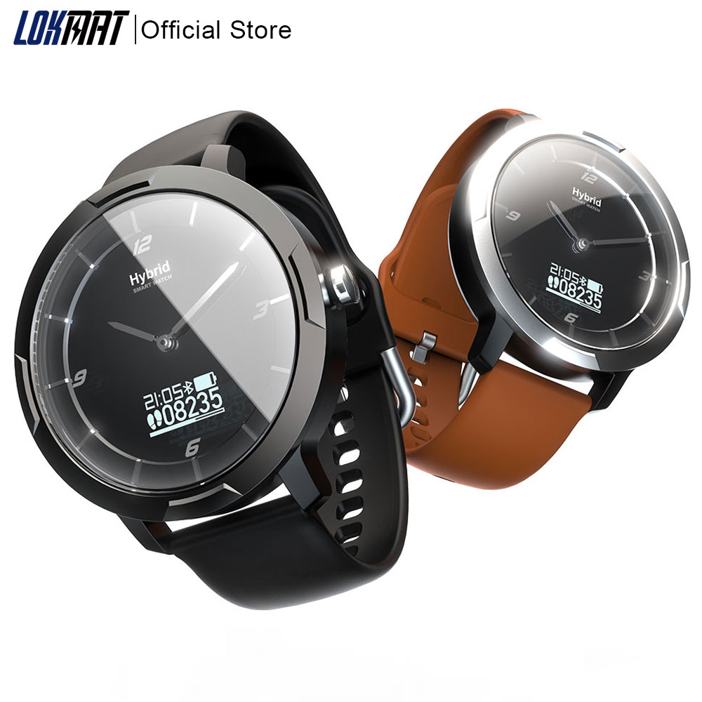 LOKMAT Bluetooth Smart Watch Men Sport Fitness Tracker Hybrid Heart Rate Monitor Waterproof SmartWatch Digital Clock  For Ios