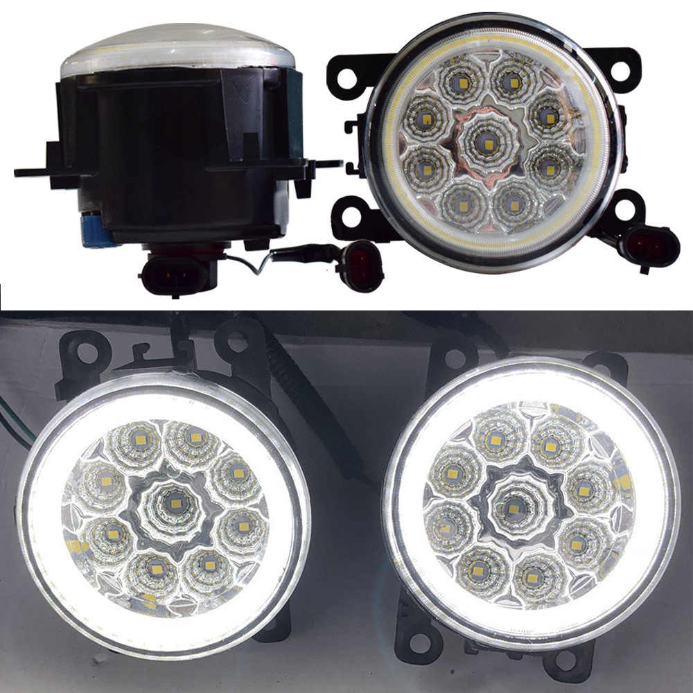 <font><b>2</b></font> Pieces Car Styling H11 <font><b>LED</b></font> Bulb Fog Light + Angel Eye 12V For <font><b>Renault</b></font> <font><b>Megane</b></font> <font><b>2</b></font> Coupe-Cabriolet EM0 EM1 Convertible 2003-2015 image