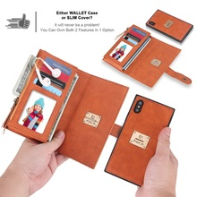 Luxury cases For iPhone X shock drop Leather goods Wallet style for XR XSMAX CASE Pluggable Card APPLE 7 case