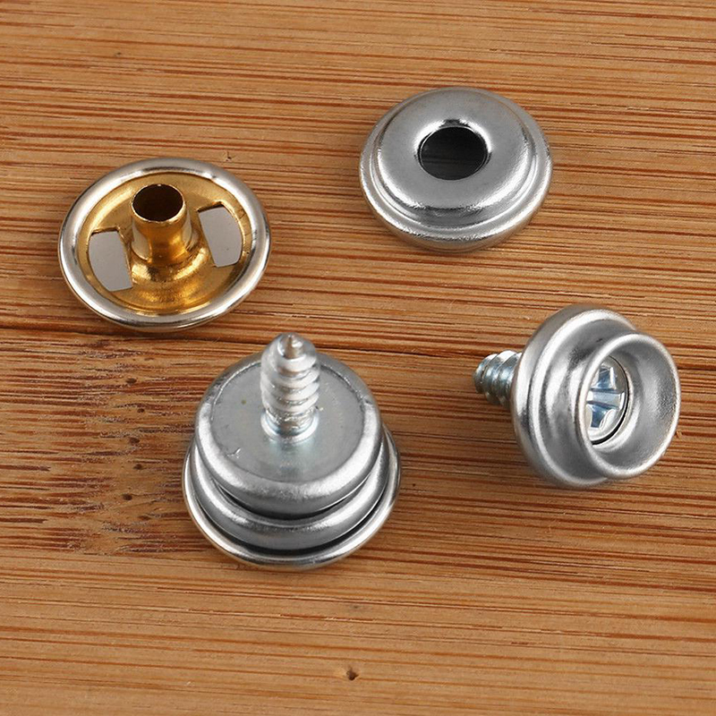 Home Improvement Fabric Stainless Steel Furniture For Boat Snap Fastener Button Screw Studs 15mm Kit Canvas Durable Portable