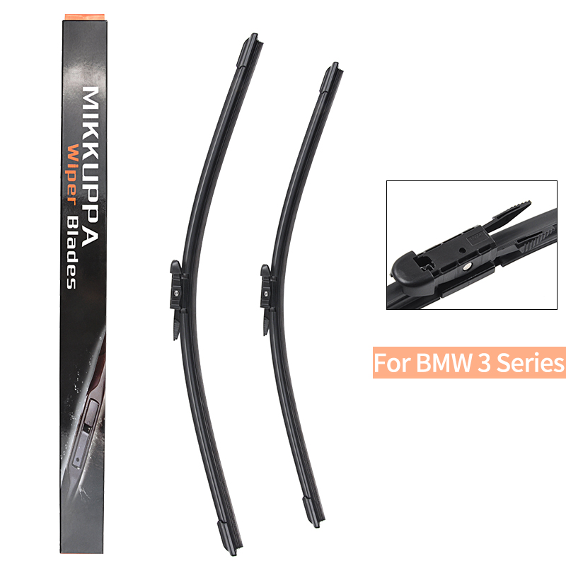 Mikkuppa Front <font><b>Wiper</b></font> Blade For <font><b>BMW</b></font> 3 Series E36 E46 E90 E91 E92 E93 <font><b>F30</b></font> F31 F34 G20 1990-2018 Auto Car Accessories image