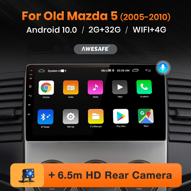 AWESAFE PX9 для Mazda 5 Mazda5 2005 - 2010 Автомобиль Радио Мультимедийный видеоплеер навигации GPS без 2 din 2din dvd-проигрыватель на платформе Андроид 10
