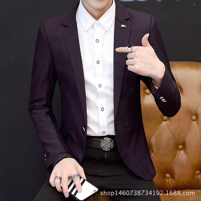 2019 New Style Spring MEN'S Casual Suit Korean-style Slim Fit Single West Trend Men Suit Jacket