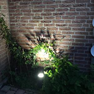 Image 5 - LED lampa na energię słoneczną na trawnik słonecznego lampa projektora wodoodporny ciepły biały kolor rgb lampa ogrodowa Villa Lawn oświetlenie korytarza