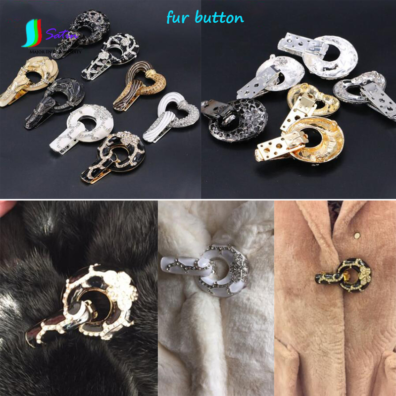 Rhinetsone Button Duck-mouth Buckle for Coats Repair Clothing Decor White