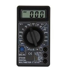 DT830B LCD dijital Mini multimetre voltmetre ampermetre ohmmetre DC AC 750/1000V akım el Test cihazı Test koruması prob