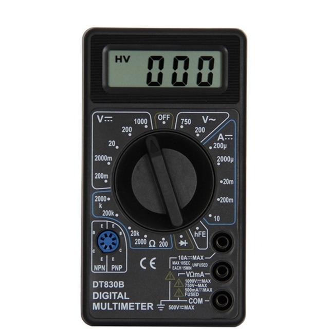 DT830B Lcd Digitale Mini Multimeter Voltmeter Amperemeter Ohmmeter Dc Ac 750/1000V Stroom Handheld Tester Test Bescherming Met probe