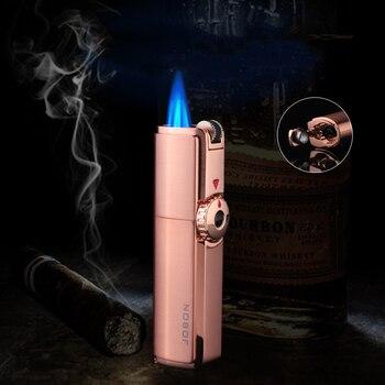 Cohiba Same Metal One Triple Torch Flint Lighter BBQ Jet Gas Cigar Lighter Turbo Kitchen Cigar Spray Gun Outdoor Gadgets For Men цена 2017