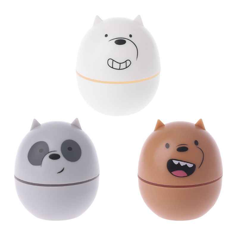 Cartoon Little Bear Contact Lens Case Holder For Men And Women Fashion Cute Eye Care Contact Lens Box