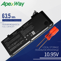 63.5WH ApexWay Laptop battery for APPLE MACBOOK PRO 13 A1278 (2009 VERSION) MB990*/A MB990J/A A1322