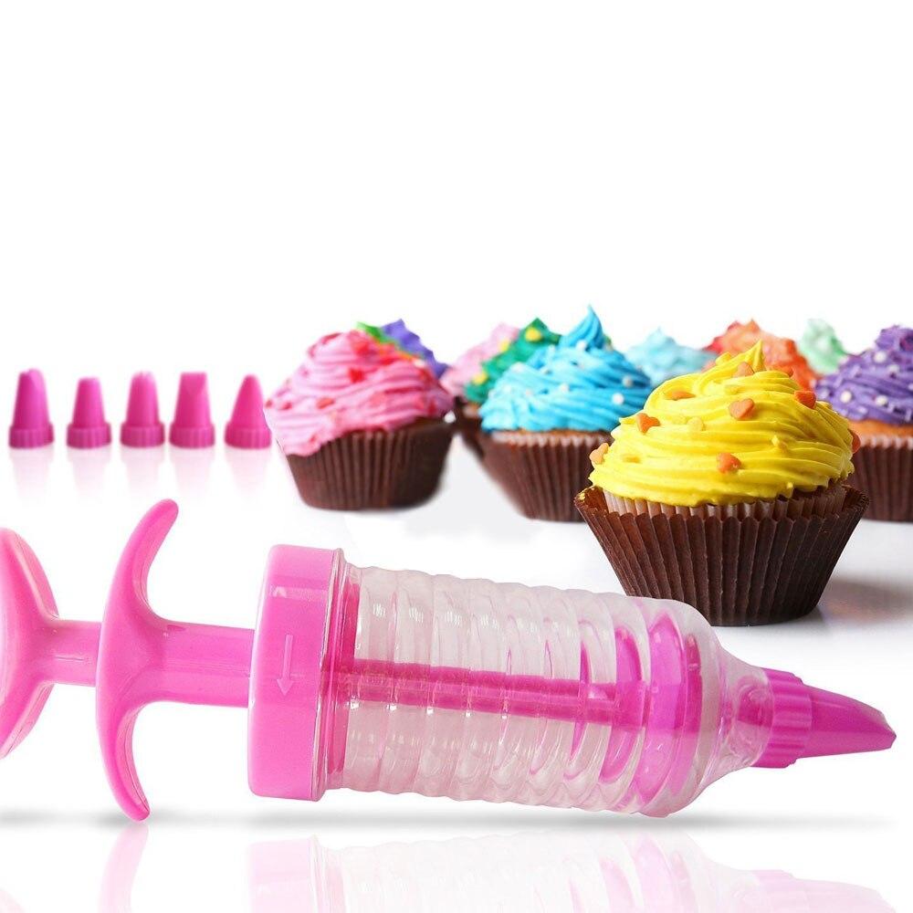 8 Tips//Set  Plastic Nozzle Cake Cream Syringe  Icing Piping Cupcake Decoration