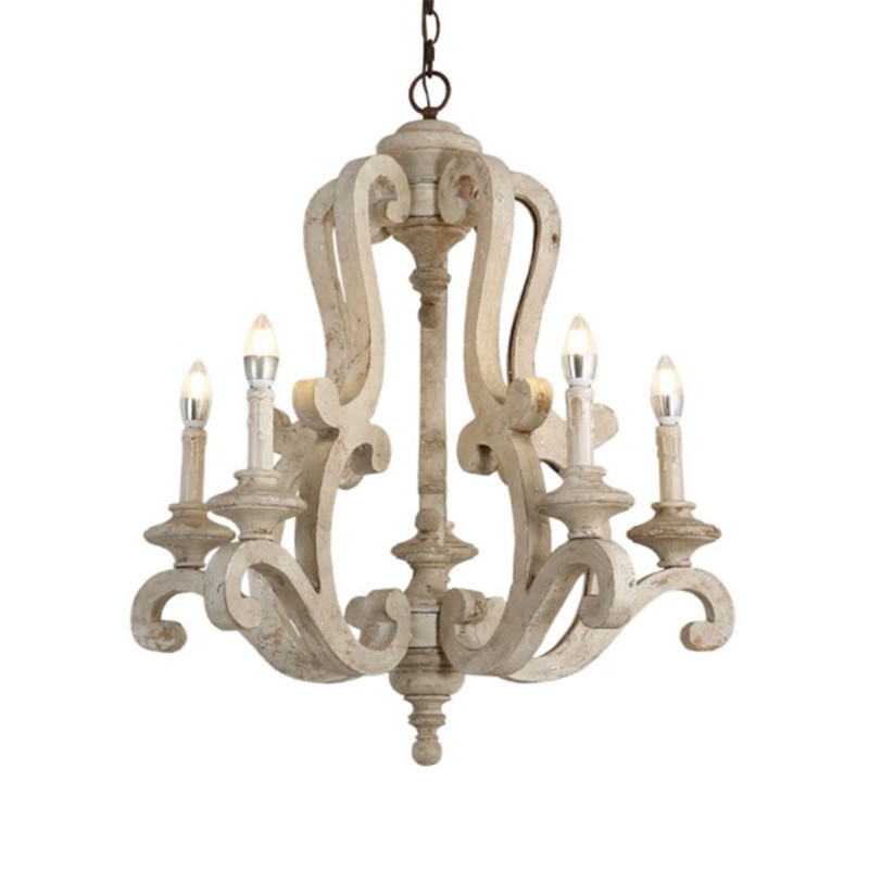 American Country Wooden Chandelier