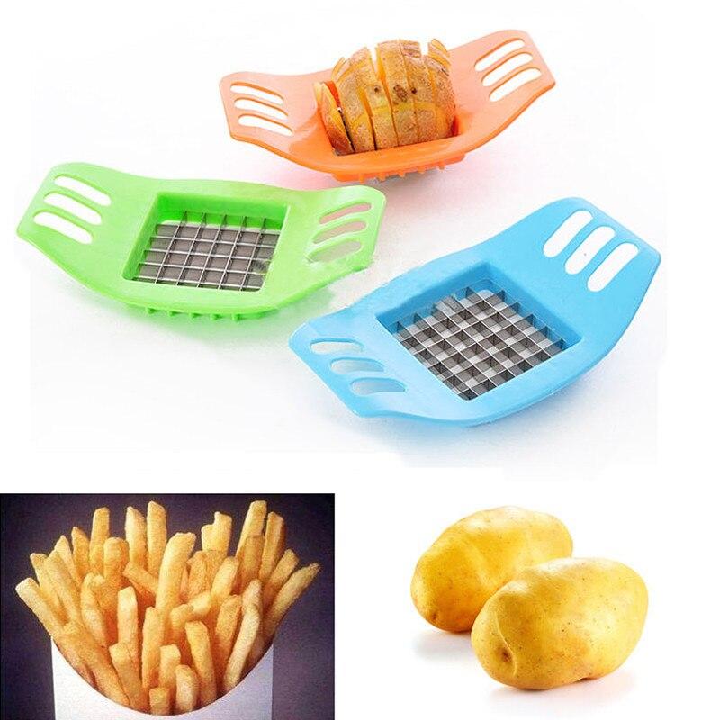 Color Aleatorio Cortador de patatas Cortado en tiras Herramientas de papas frita