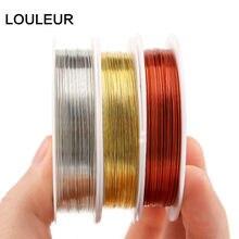 Fil de cuivre pour fabrication de bijoux, 10 m/lot, 0.3mm de diamètre, fil métallique pour bricolage, perles, boucles d'oreilles, vente en gros