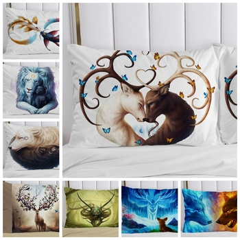 1PC Pillow Case 70*70 50*70 50*75 50*80 45*45 Pillowcase Decorative Pillow Cover Bedding Animal for Hotel Wedding 1pc pillow case pillowcase decorative pillow cover cartoon dogs bedding for kids baby boys girls 70 70 50 70 50 75 65 65 45 45