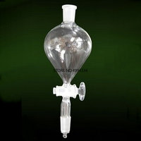 1PC 250ml 24# Joint ball shaped Clear Lab Glass Separating Funnel With Ground in Mouth Glass Stopper for Laboratory Glassware