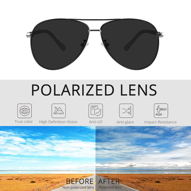 Kdeam Polarized Classic Aviator Sunglasses