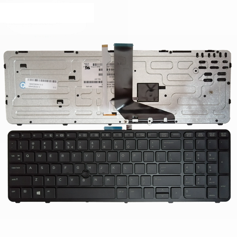 Image 2 - GZEELE NEW English laptop backlit keyboard FOR HP for ZBOOK 15 17 G1 G2 PK130TK1A00 SK7123BL US black Frame-in Replacement Keyboards from Computer & Office on