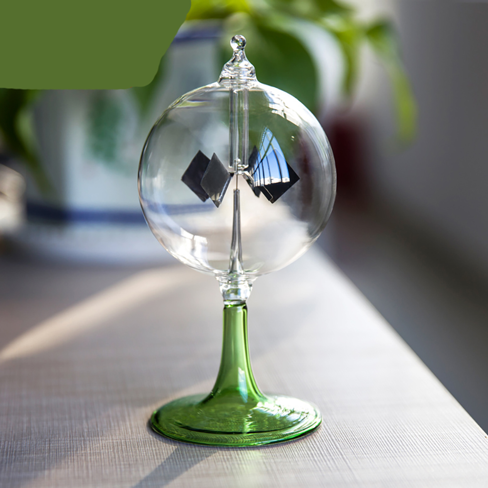 Sunshine Rotating Windmill Glass Furnishing Article Toy Gift Decoration Solar energy creative windmill thermal energy induction