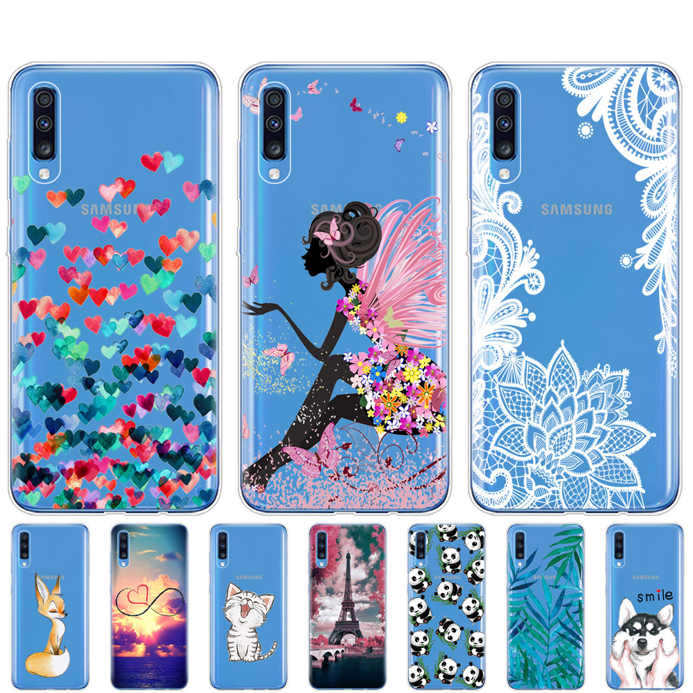case For <font><b>Samsung</b></font> <font><b>A70</b></font> <font><b>2019</b></font> <font><b>cover</b></font> case Soft TPU Phone coque funda For <font><b>Samsung</b></font> Galaxy <font><b>A70</b></font> silicon Capa A 70 A705 A705F bumper image