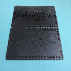 10/20/50 pièces/lot beaux certificats d'authenticité 99.9% 24 carats or noir argent Certification beaux cadeaux et Collection