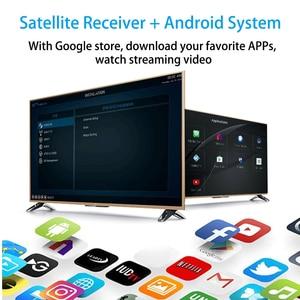 Image 3 - GTmedia GTC FTA Satellite Receiver DVB S2 Biss VU Cline Receptor DVB C Tuner dvb T2 4K Android tv box ISDB T Bluetooth 4.0 Lines