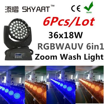 Reflektor z ruchomą głowicą wysokiej jakości 36x18w światła dj-skie RGBW oświetlenie sceniczne DMX tanie i dobre opinie SKYART CN (pochodzenie) Stage lighting effect Dmx etap światła E-M3618z 90-240 Profesjonalne stage dj AC90V-240V 50-60HZ