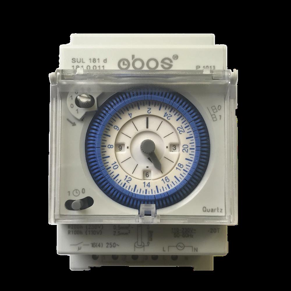 SUL 181d analogique 24 heures 3 modules Segment mécanique DIN RAIL minuterie interrupteur avec réserve de marche SUL181d