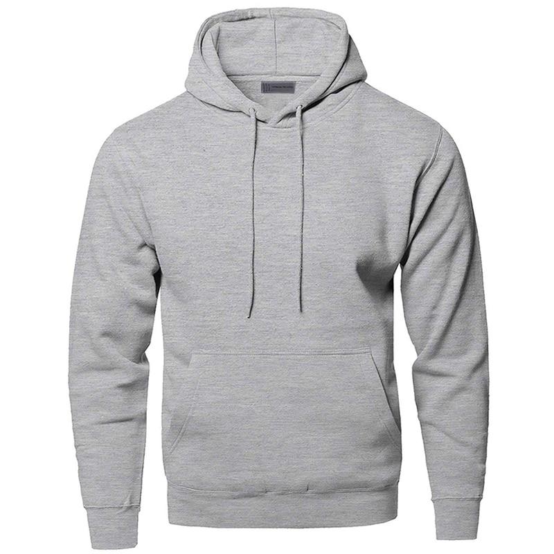 Solid Color Sweatshirts Hoodies Men Sweatshirt Hoodie Gray White Black Dark Blue Red Many Color Hooded Sportswear Streetwear