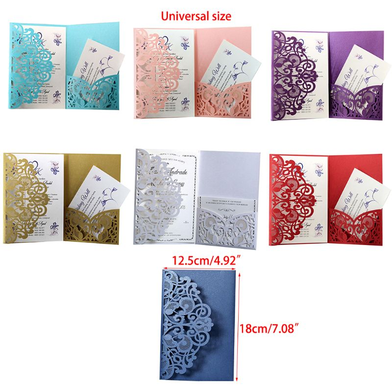 50pcs Wedding Invitation Cards Laser Cut Party Invitations with jute string for Wedding Baby Shower Birthday Party Supplies