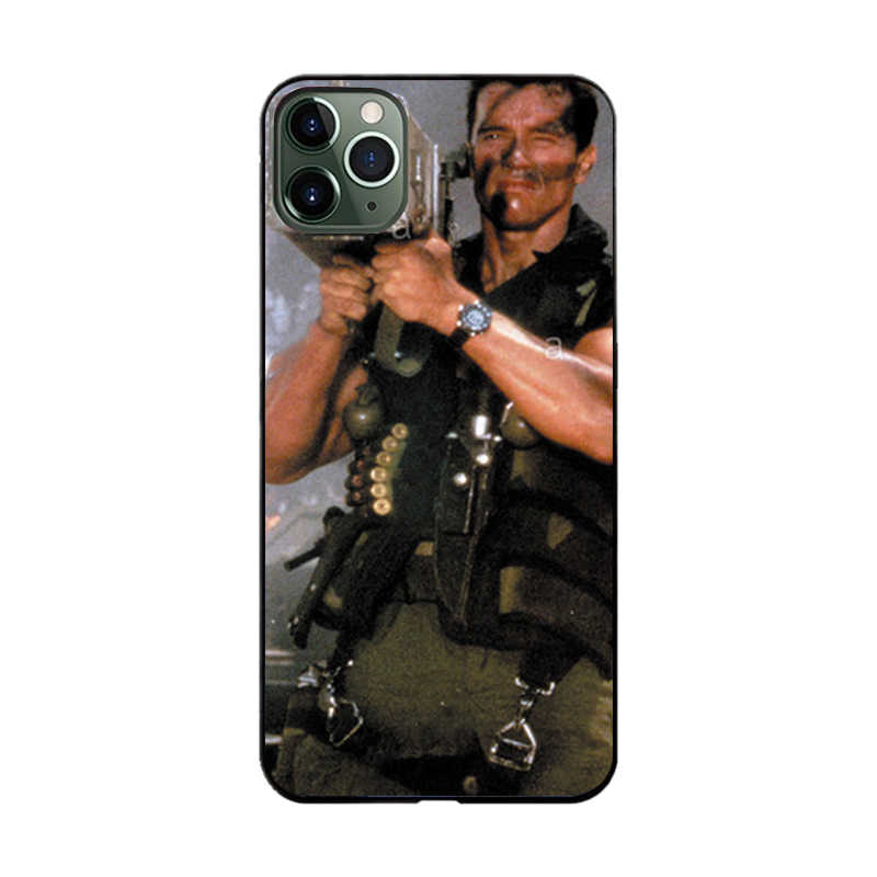 Чехол arnold schwarzenegger machine gun terminator для iphone 11 i phone11 pro max arnold commando rocket poster чехол на iphone 11