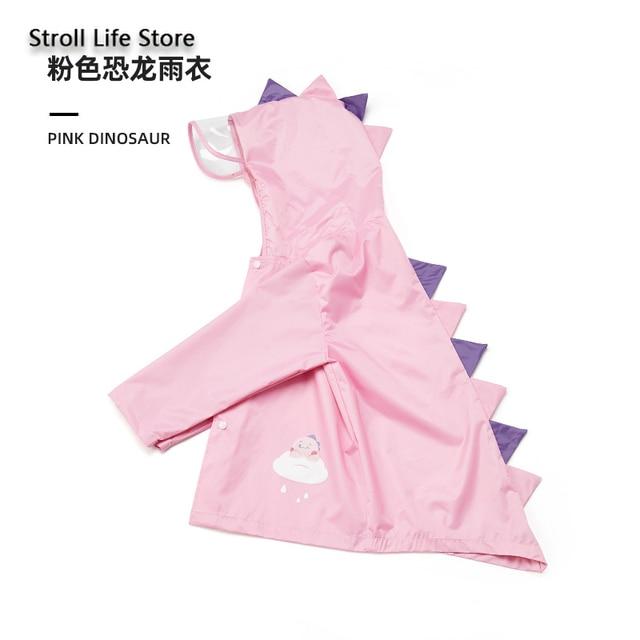 Cute Girl's Waterproof Raincoat Kids Rain Poncho Pink Dinosaur Long Clear Rain Coat Jacket Capa De Chuva Rain Suit Gear Gift 3