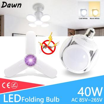 цена на LED Bulb E27 40W 30W 10W AC 85-265V Cold White Warm White  Bombilla Spotlight Lampada LED light football UFO Led lamp for home