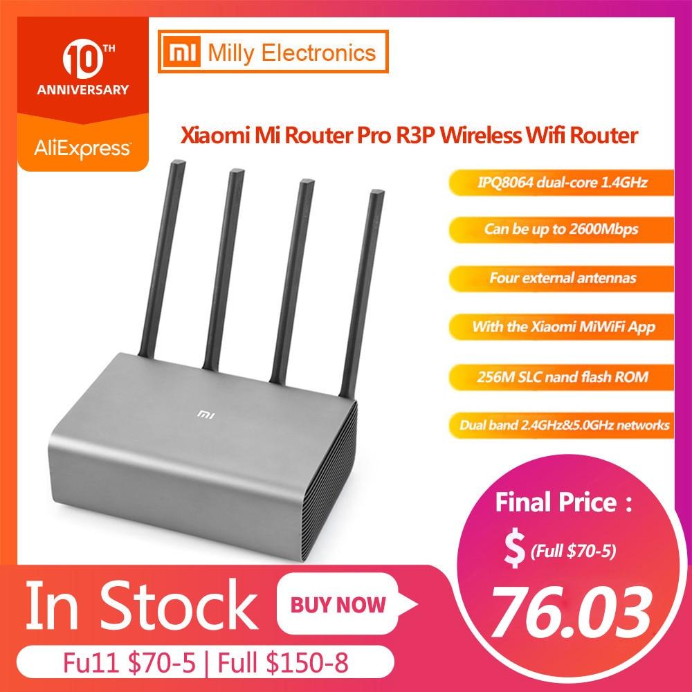Original Xiaomi Mi R3P 2600Mbps Wireless Router 4 Antenna Dual-band WiFi New