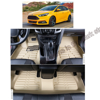 lsrtw2017 auto accessories leather car floor mats for ford focus Mk 3 2011 2012 2013 2014 2015 2016 2017 2018 rug carpet cover
