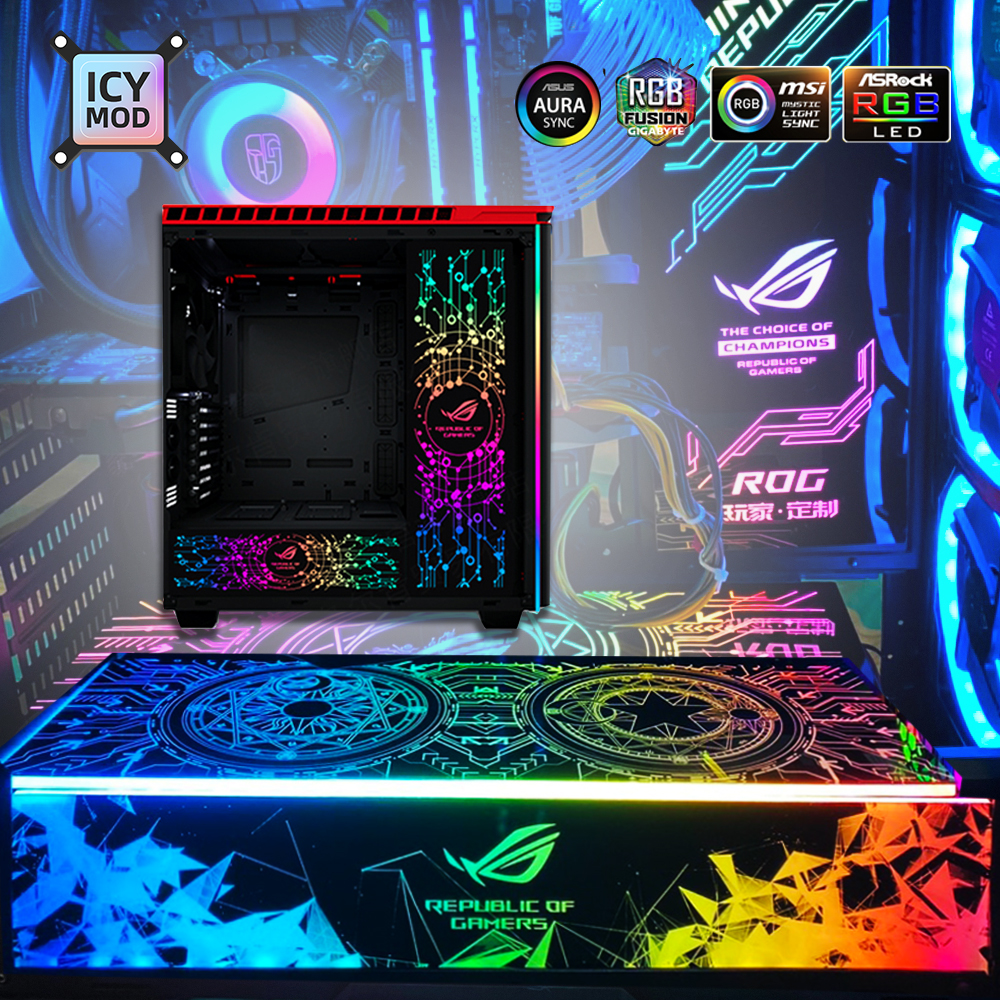 mod rgb lighting panel for pc case vga backplate side panel symphony a rgb colorful rgb aura sync water cooling customization