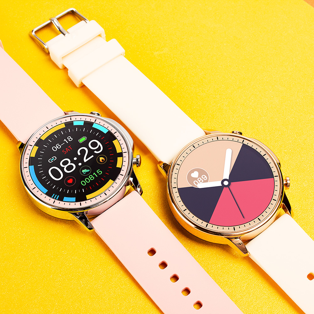 H9bfed6438d0443c7ae521c6d4b9c6661J COLMI V23 Women Smart Watch Full Touch Fitness Tracker IP67 Waterproof Blood Pressure Smart Clock Men Smartwatch