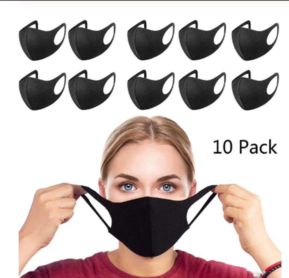 10 Pcs Summer Face Mask Care Face Safety Mask Cover Face Cover Reusable Washable Dust Cover Cool Breathing Masque Facial Mask
